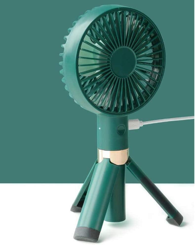 H/L Escritorio Trípode Pequeño Ventilador Portátil, De Viaje USB Mini Ventiladores De Mano con 30 ° Aspa del Ventilador Ciclónico En Diagonal Y Se Lava Fácilmente De Recorrido,Verde