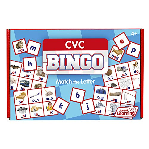 Junior Learning CVC Bingo Educational Action Games