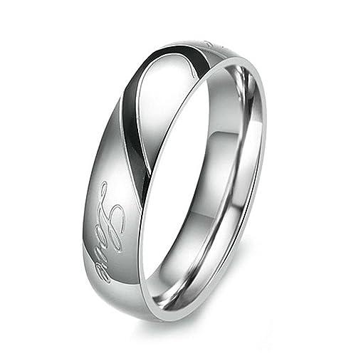 Epinki Fashion Jewelry Men Women S Real Love Heart Stainless