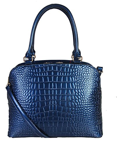 rimen-co-solid-color-shiny-patent-leather-crocodile-texture-roomy-interior-kiss-lock-adjustable-shou