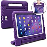 COOPER DYNAMO Kids case compatible with Galaxy Tab A 10.1 | Shock Proof Heavy Duty Kidproof Cover for Kids | Girls, Boys | Kid Friendly Handle & Stand, Screen Protector | Samsung SM-T580 T585 (Purple)