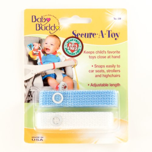 Baby Buddy Secure-A-Toy 2Ct Blue-White (Pack Of 24) by Baby Buddy