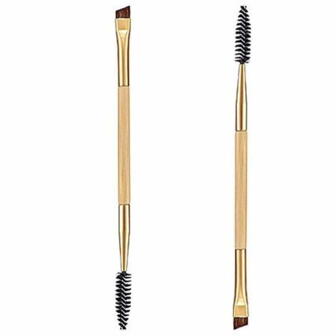 Make-up Pinsel, 2PCS Make-up Kunststoffe Griff Doppel Augenbrauen Pinsel + Augenbrauen Kamm Waymeduo