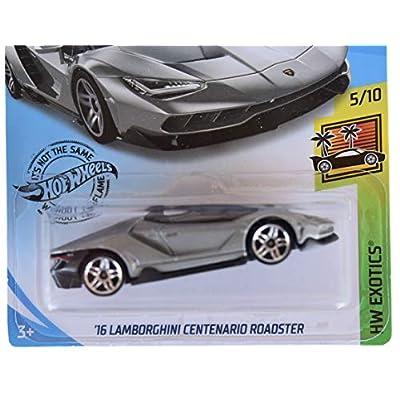 Hot Wheels HW Exotics 5/10 '16 Centenario Roadster 213/250, Silver: Toys & Games