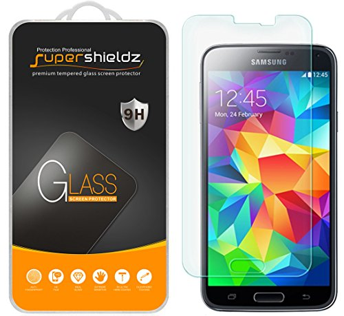 2-Pack-Samsung-Galaxy-S5-Tempered-Glass-Screen-Protector-Supershieldz-Anti-Scratch-Anti-Fingerprint-Bubble-Free