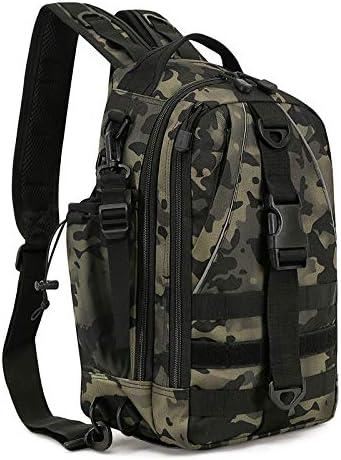 Huntvp Fishing Tackle Backpack Storage Bag Fishing Backpack with Rod Holder Shoulder Backpack Fishing Gear Bag