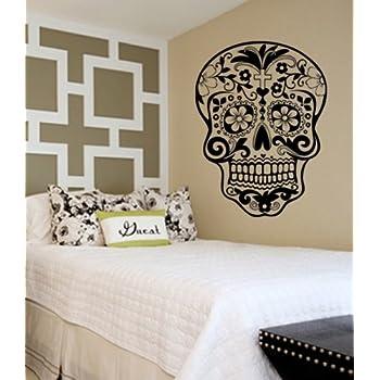 Sugar Skull Decal Sticker Wall Vinyl Day Of The Dead