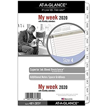 """Day Runner Pocket S... AT-A-GLANCE 2019 Weekly Planner Refill 3-1//4/"""" x 6-3//8/"""""""