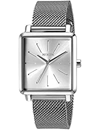 Womens K Squared Milanese Quartz Stainless Steel Casual Watch, Color:Black (