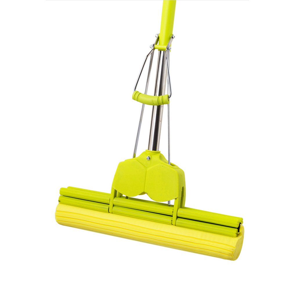 Wet Mops- Lazy Double Roller Pva Sponge Mop Set Perfect Floor Mop for Mopping Your Home Kitchen Bathroom Tile Window (Mop and 2 Extra Refill)
