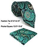 Shlax&Wing Mens Neckties Paisley Tie Multicolor New Design Unique 57.5'' 63'' Long