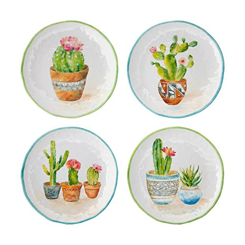 Gourmet Art 4-Piece Cactus Melamine 9