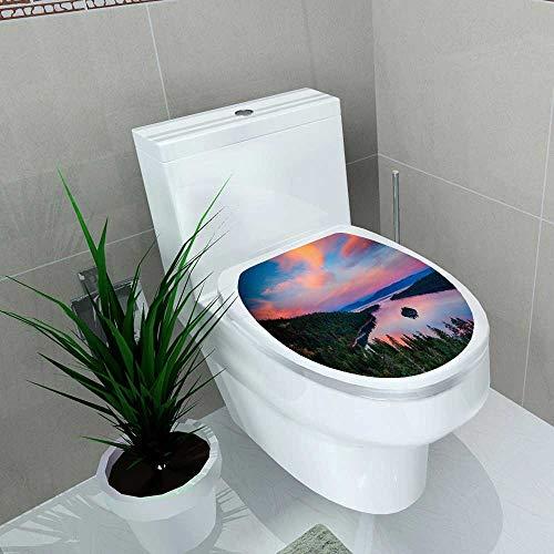 (Auraise-home Bathroom Removable PVC High Angle de vue d'un lac le lac Tahoe Californie USA Vinyl Removable Bathroom W15 x L17)