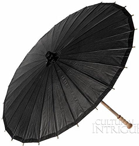 Bazaar Paper Parasol 32 Inch Black