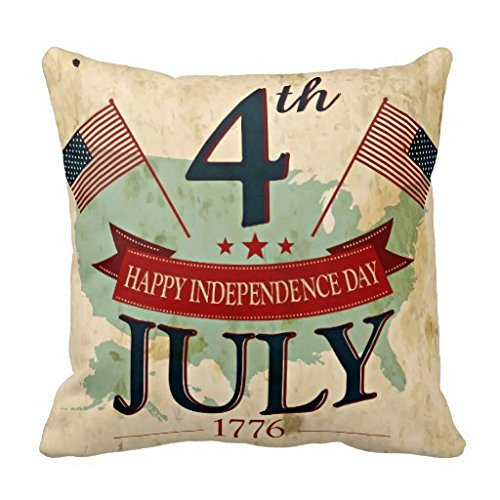 Vintage rustic Independence day 4th July trendy pillow case - Lange Measurements Jessica