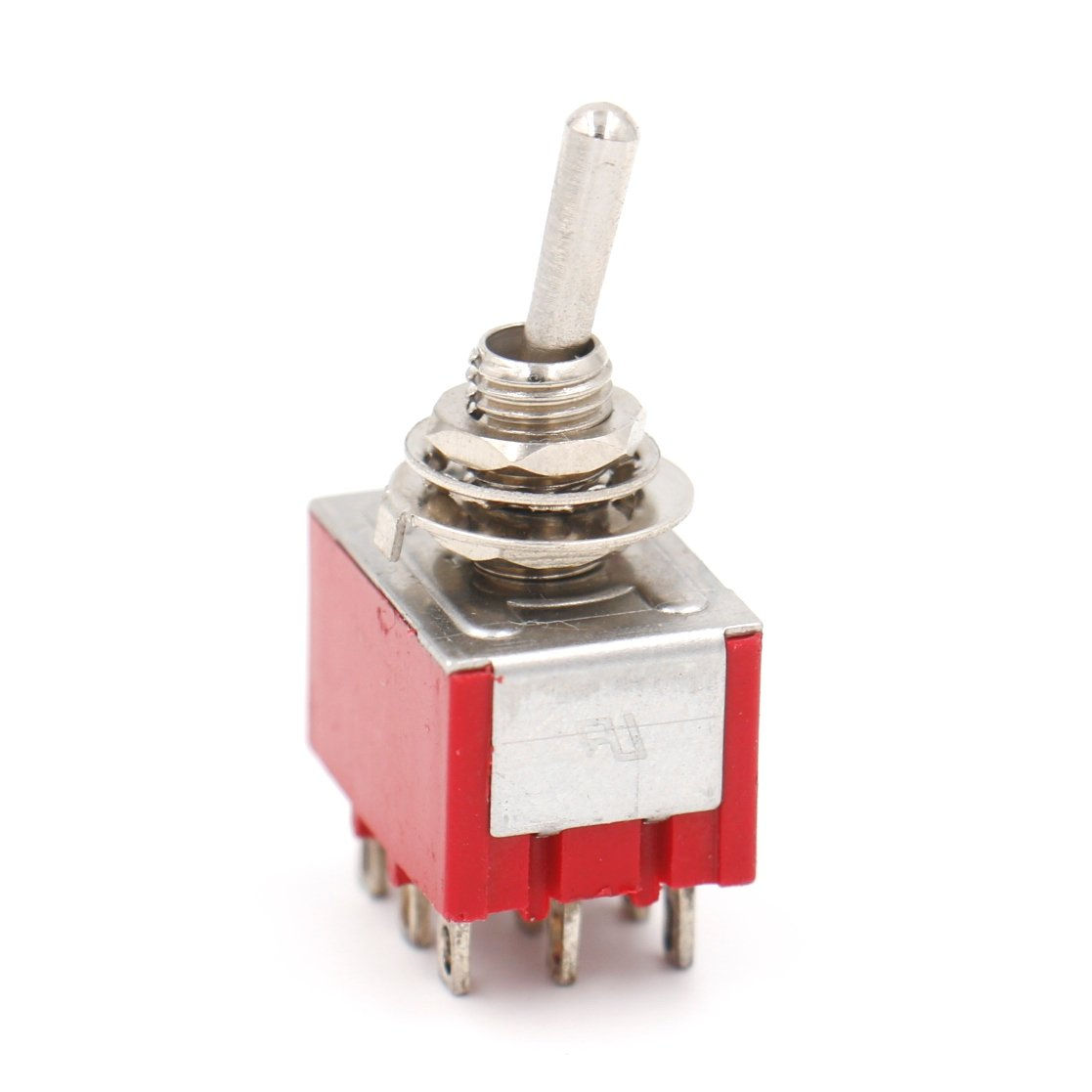 Heschen miniature Interrupteur /à bascule MTS-302/On-on 3pdt 9/broches 6/A 125/V Lot de 2 2/A 250/V UR /Énum/ér/és