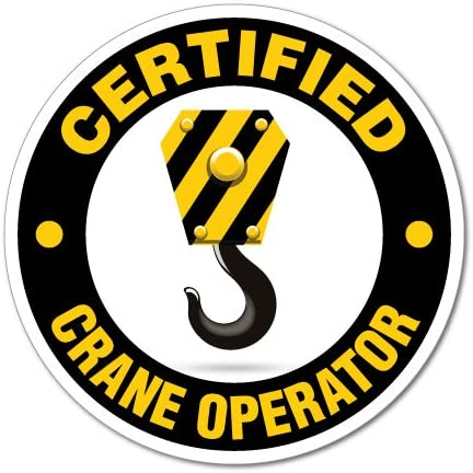 Certified Crane Operator WHS OHS Sticker Decal Safety Sign Car Vinyl