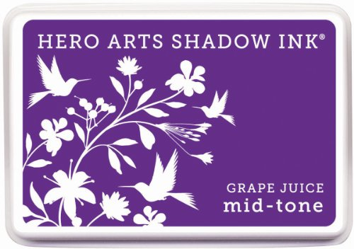 Hero Arts Rubber Stamps Mid-Tone Shadow Ink Stamp Pad, Grape Juice