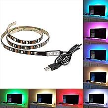 AENMIL 5050 USB Led Strip, Moving RGB Light Bar, 50CM Color TV Deskto / PC Backlight Lighting with Static Bag Packing