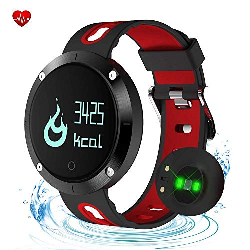 Smart Watch Fitness Tracker,Waterproof Activity Tracker with Heart Rate Monitor,Digital Wrist Watch with Sleep Monitors,Pedometer Stop Watch with Step Calorie Counter for Adult Women Men