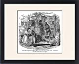 Framed Print of The Old Curiosity Shop, Nell and grandfather in the shop