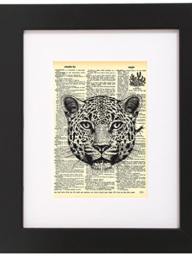 Dictionary Art Print Cheetah Printed On Recycled