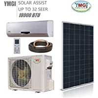 YMGI 1.5 Ton 18000 BTU SOLAR ASSIST DUCTLESS MINI SPLIT AIR CONDITIONER Heat Pump …