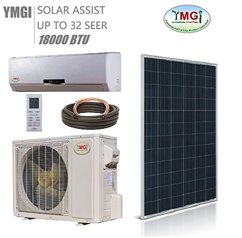 YMGI 1.5 Ton 18000 BTU SOLAR ASSIST DUCTLESS MINI SPLIT AIR CONDITIONER Heat Pump ()