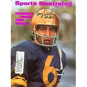 Sonny Sixkiller WASHINGTON HUSKIES autographed Sports Illustrated magazine 10/4/71