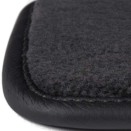 Aspecto terciopelo DBS 1765666 Alfombrillas de coche Moqueta en negro 1000 g//m/² 3 uds A medida - Antideslizante Modelo Luxe Alfombrillas para coche