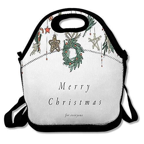 Gingerbread Man Printable - Reusable Lunch Bag for Men Women