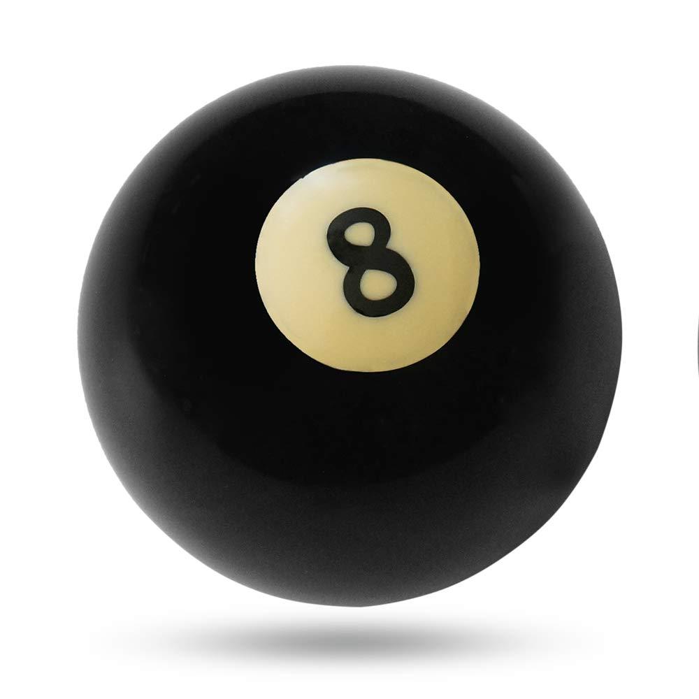 Godyluck Boule De Queue De Billard/Balle De Snooker/Américain Numéro 8 Boule De Queue 52.5mm pour Replacement (Noire)