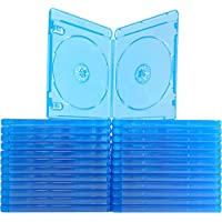 (25) Empty Standard Double Blue Replacement Boxes / Cases for Blu-Ray Disc Movies BR2R12BL