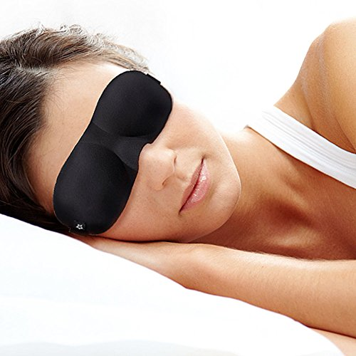 3 Pack 3D Sleep Eye Mask, Soft Adjustable Contoured Sleeping Mask for Sleeping, Travel, Shift Work, Naps, Ideal Eyeshade for Men Women by SpringSeaon