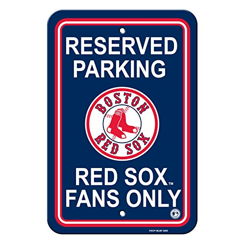 Official Major League Baseball Shop Authentic MLB Parking Sign - Man Cave and Bar (Boston Red -