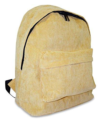 Corduroy School Backpack (Yellow) (Escapade Backpack)