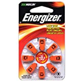 Pack of 6 Energizer EZ Turn & Lock Hearing Aid Batteries Size: 13