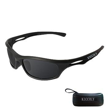 cd60a452ea KICCOLY Gafas de Sol Deportivas Polarizadas para Hombre Esquiar Golf Correr  Ciclismo TR8116 Súper Liviana para