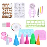 Quilling Paper Rolling Kit Slotted Tools Tweezer Ruler For Home Office Decoration