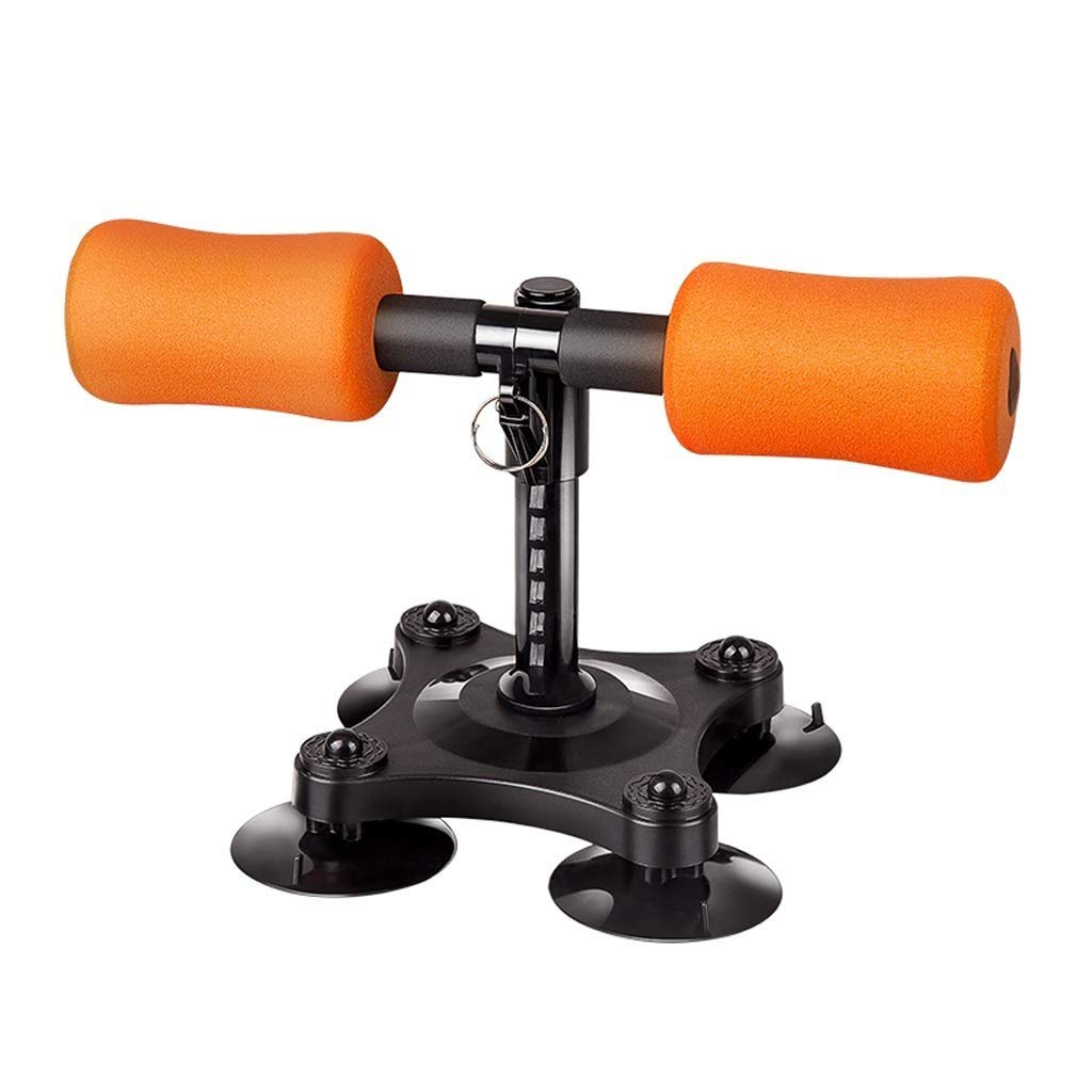 Fitness Equipment Sit-up Aid Sit-ups Assistive Abdominal Muscles Home (Color : Orange)