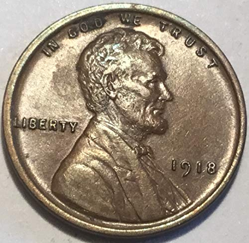 1918 Lincoln Wheat Cent Penny MS-60