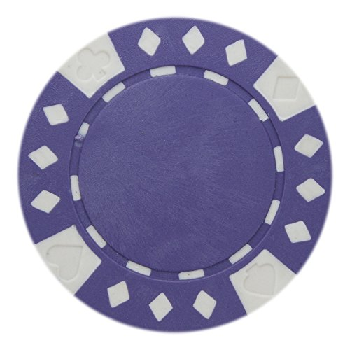 (Brybelly Diamond Suited Poker Chips Versatile 11.5-gram Clay Composite - Pack of 50 (Purple) )
