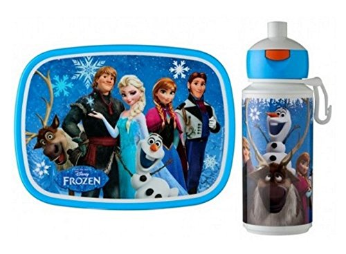 Rosti Mepal Kids Childs Lunch Box and Pop Up Drinks Bottle, Disney's Frozen