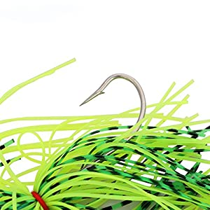 4pcs Fishing Hard Spinner Lures Spinnerbait Pike Bass