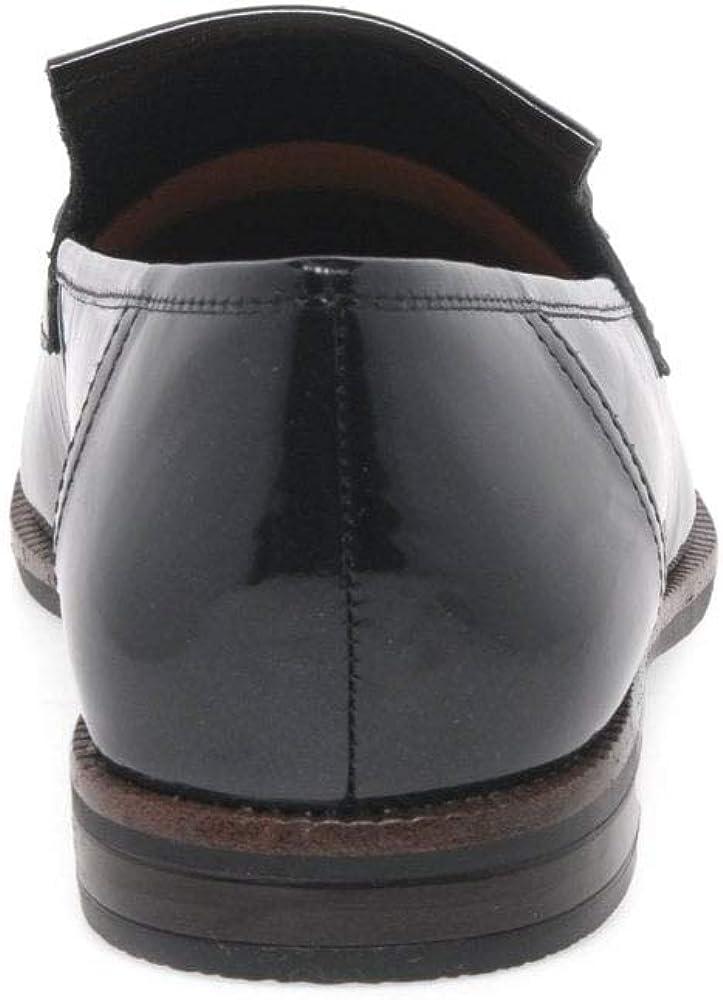 Caprice Damen 9-9-24200-21 Slipper Schwarz Lack 3cLUP