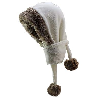 ca920009869b Saoye Fashion Bonnet De Fourrure Chapeau Unisexe Hiver Écharpe À Capuche  Chaud Facile à Assortir Polaire