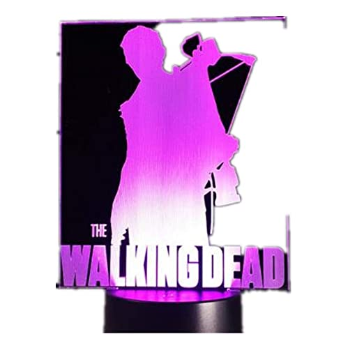 Walking Dead 3D Night Light/Led 7 colores que cambian la ...