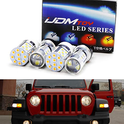 iJDMTOY Complete LED Daytime Running Light, Turn Signal Conversion Kit For 2018-up Jeep Wrangler JL Rubicon, Sahara w/ 2-Bulb DRL/Blinker ()