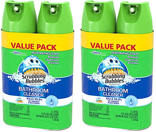 Scrubbing Bubbles Disinfectant Bathroom Cleaner, Fresh Clean Scent, 20 Ounce, (Pack of 4)