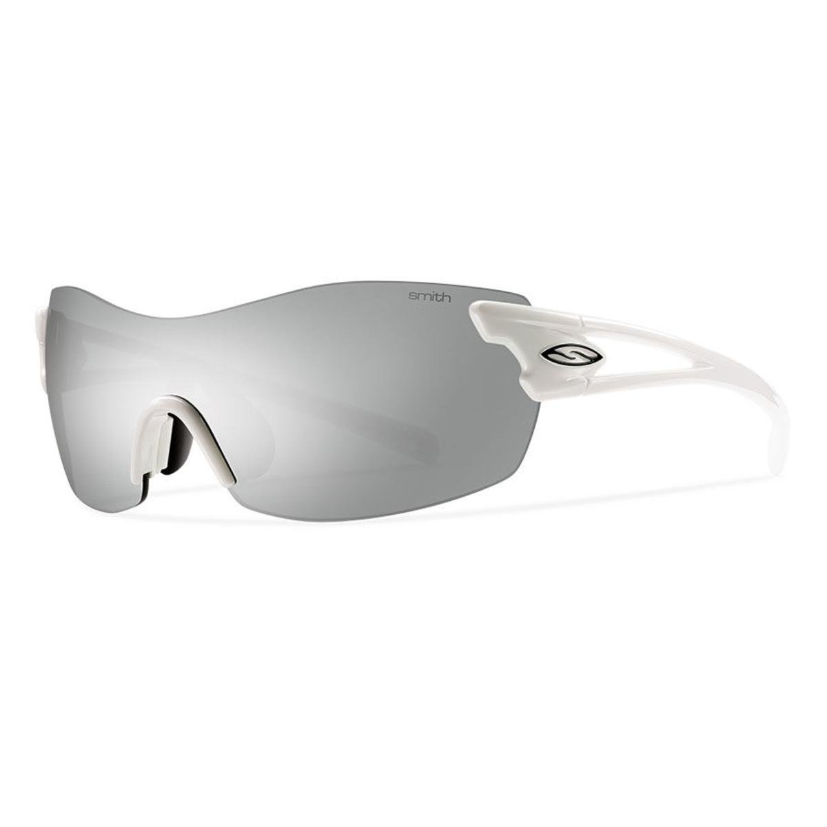Smith Optics Pivlock Asana Sunglass with Platinum, Ignitor, Clear Carbonic TLT Lenses, White by Smith Optics